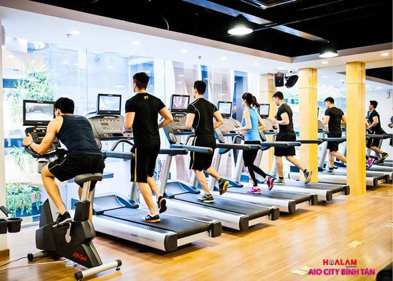 Gym tại dự án AIO Tên Lửa Bình Tân - Liền kề Aeon Mall Bình Tân.