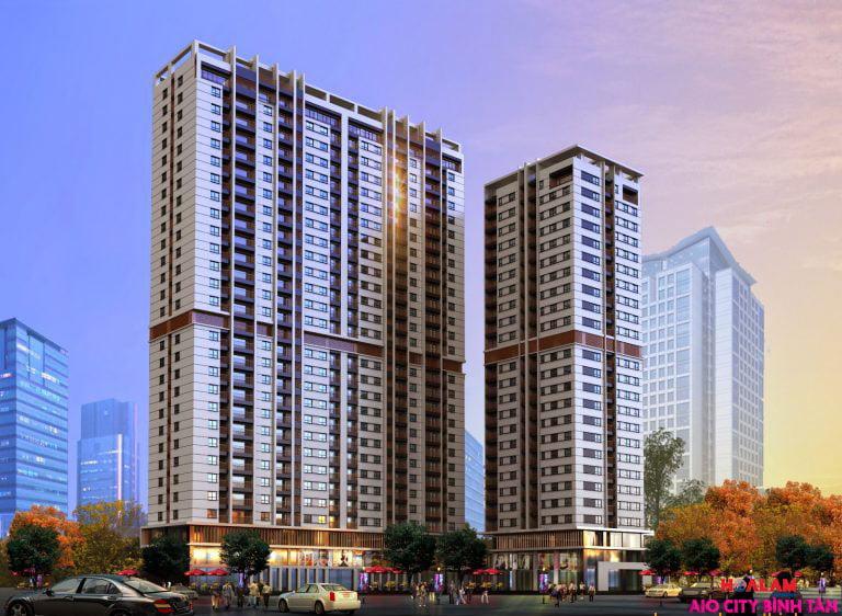 Phối cảnh tại dự án AIO CITY Tên Lửa Bình Tân - Liền kề Aeon Mall Bình Tân.