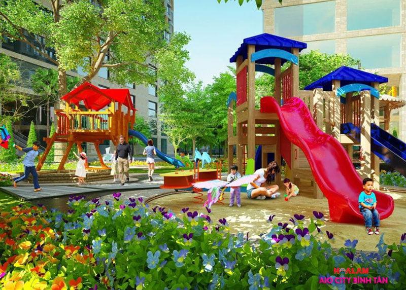 Khu vui trơi tại dự án AIO CITY Bình Tân - Liền kề Aeon Mall Bình Tân.