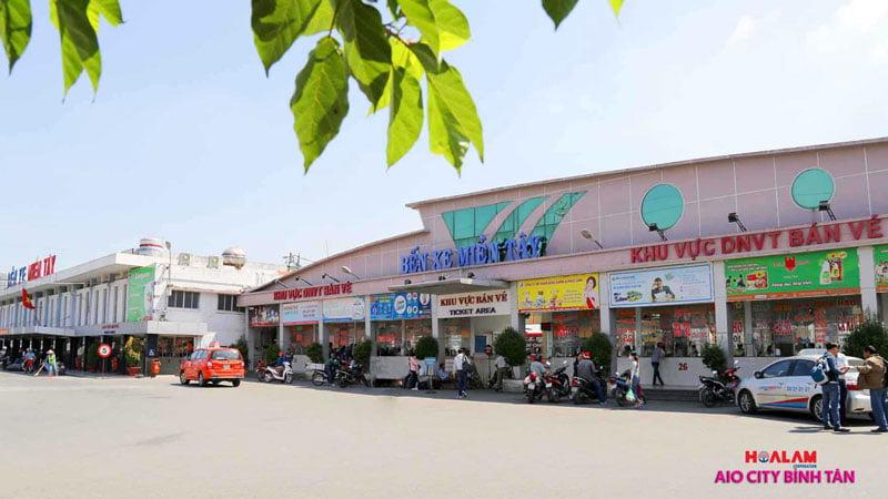 Bến xe miền Tây - Aeon City Bình Tân.