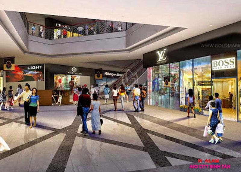 Trung tâm thương mại tại căn hộ AIO CITY Bình Tân - Liền kề Aeon Mall Bình Tân.