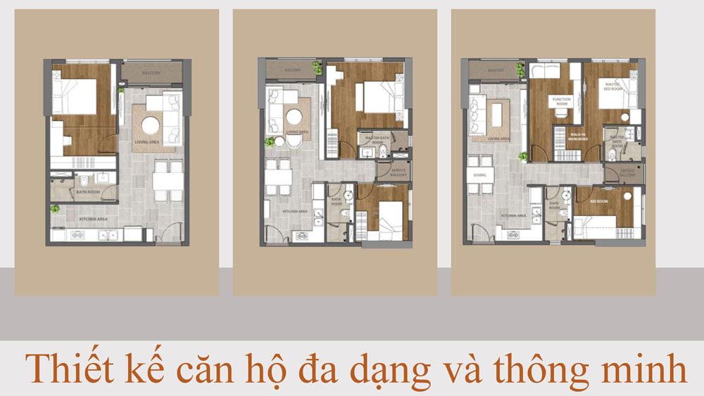 Thiết kế căn hộ - Aio City Bình Tân.