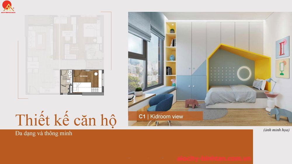 Phòng ngủ căn 3PN căn hộ tại dự án Hoa Lâm đường Tên Lửa.