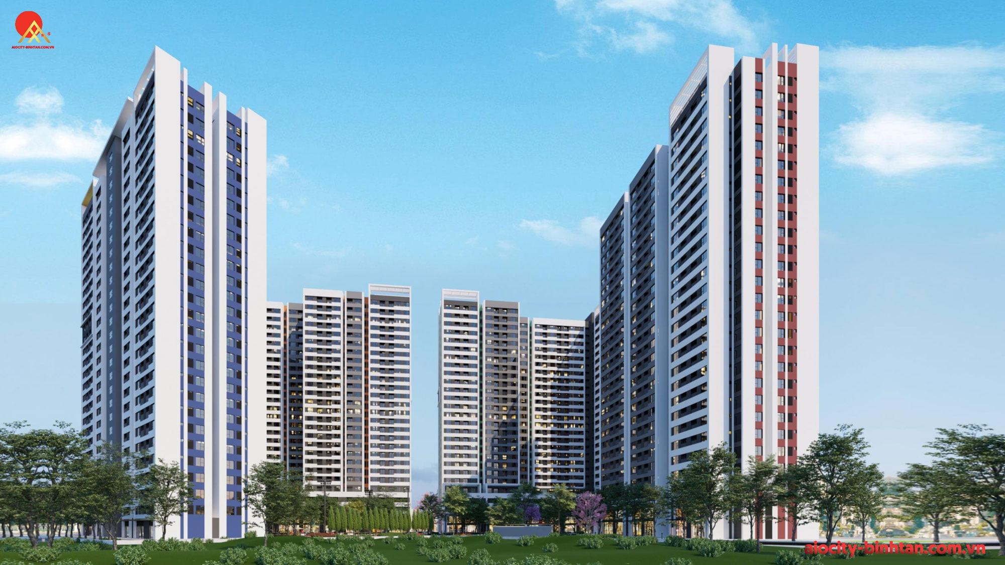 Phối cảnh dự án căn hộ Aio City Tên Lửa.