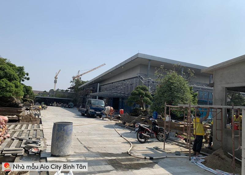 Tiến độ khu nhà mẫu Aio City Bình Tân đường Tên Lửa.